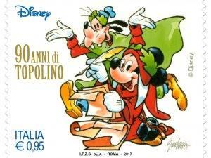 90 anni di Topolino, arriva il francobollo celebrativo del fumetto Disney